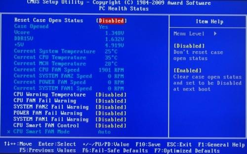 Pc Health Status - máy tính khởi động lại